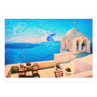 Santorini town Greece Post Cards