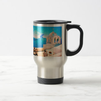 Santorini town Greece Travel Mug