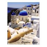 Santorini view postcard
