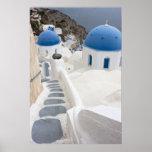 Santorini View Poster