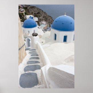 Santorini View Posters