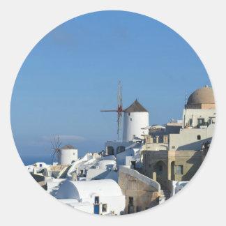 Santorini Windmill Stickers