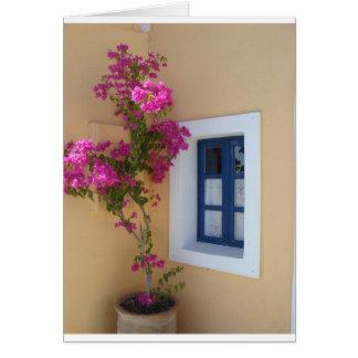 Santorini Window Card