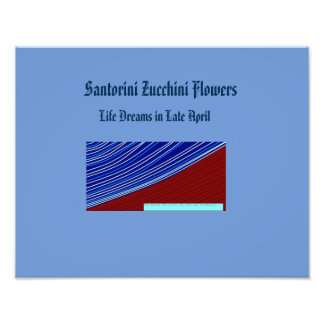 santorini zucchini flowers photo print