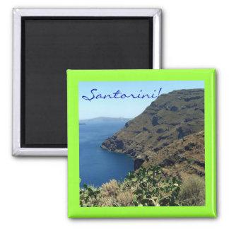 Santorini's volcano 2 inch square magnet