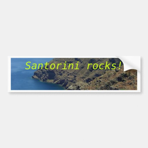 Santorini's volcano bumper sticker