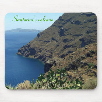 Santorini's volcano mouse pad