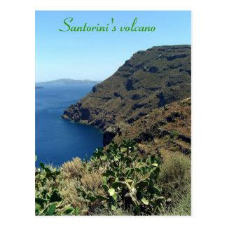 Santorini's volcano postcard