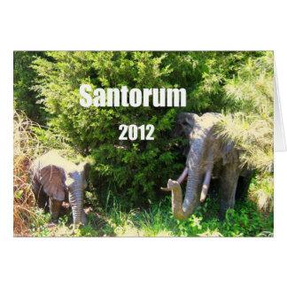 Santorum 2012 card