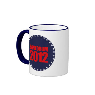 SANTORUM 2012 - RINGER COFFEE MUG