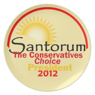 Santorum 2012 Plate