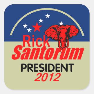 Santorum 2012 square sticker