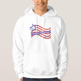 Santorum 2012 Stripes With 3 Stars Hoodie