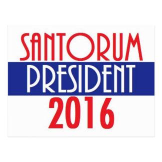 SANTORUM 2016 POSTCARD