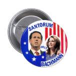 Santorum / Bachmann 2012 2 Inch Round Button