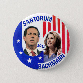Santorum / Bachmann 2012 Button