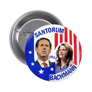 Santorum/Bachmann 2012 Pin Redondo De 2 Pulgadas