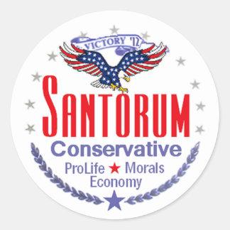 Santorum Classic Round Sticker