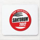 SANTORUM FOR PRESIDENT BUTT MOUSE PADS