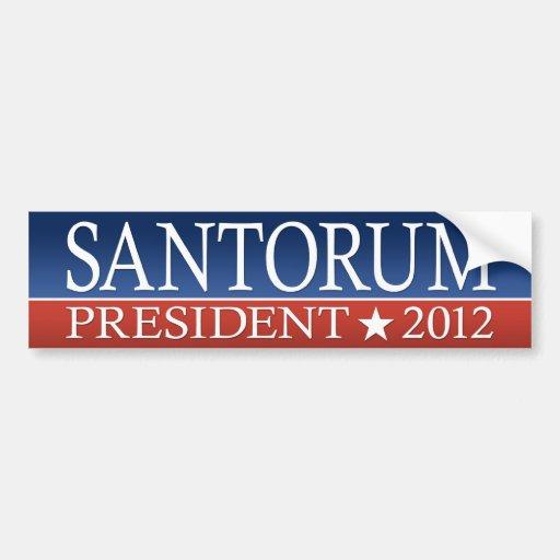 Santorum for President Car Bumper Sticker