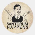 Santorum Happens Sticker