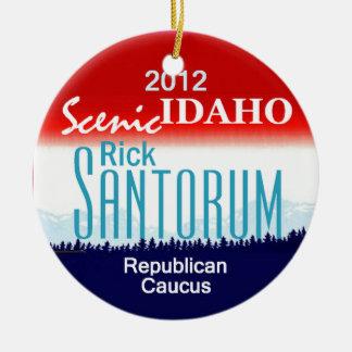 Santorum IDAHO Adorno Navideño Redondo De Cerámica