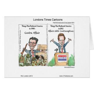 Santorum Iran Contraceptive Affair Funny Card