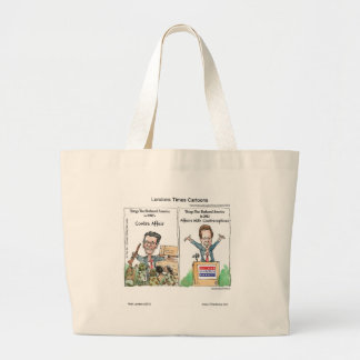 Santorum Iran Contraceptive Affair Funny Eco-Bag Large Tote Bag