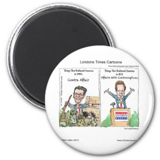 Santorum Iran Contraceptive Affair Funny Gifts Etc 2 Inch Round Magnet
