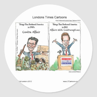 Santorum Iran Contraceptive Affair Funny Stickers