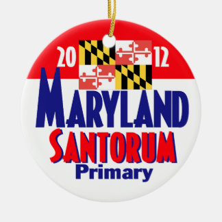 Santorum MARYLAND Ceramic Ornament