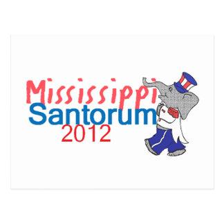 Santorum MISSISSIPPI Postcard