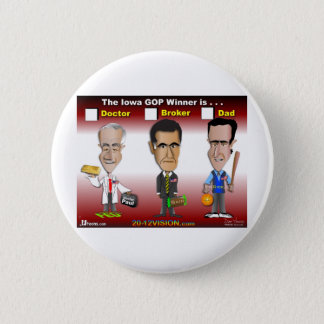 Santorum, Paul Romney Button