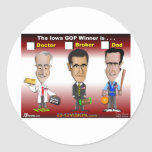 Santorum, Paul Romney Etiqueta Redonda