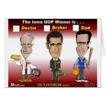 Santorum, Paul Romney Felicitacion