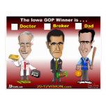 Santorum, Paul Romney Postales