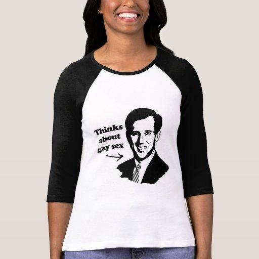 SANTORUM PIENSA ABOUT.png Camisetas