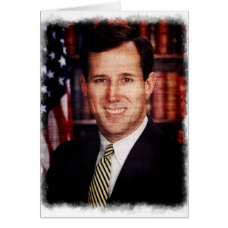Santorum Portrait Art Photo Card