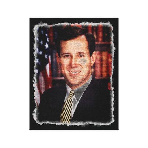 Santorum Portrait Art Photo Gallery Wrapped Canvas