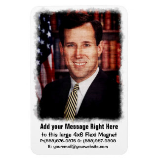 Santorum Portrait Art Photo Magnet