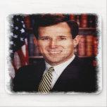 Santorum Portrait Art Photo Mousepad