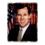 Santorum Portrait Art Photo Post Cards
