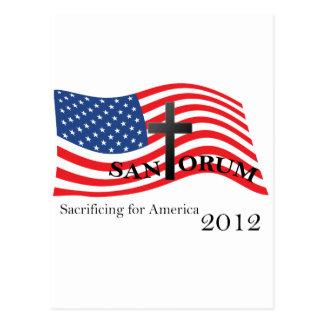 Santorum que sacrifica para América 2012 Tarjetas Postales