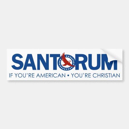 Santorum Religion Car Bumper Sticker