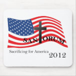 Santorum Sacrificing for America 2012 Mouse Pad