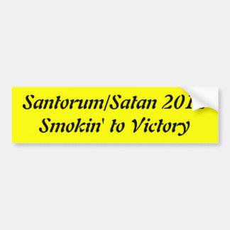 Santorum/Satan 2012 Pegatina Para Auto