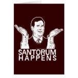 Santorum sucede tarjeta