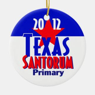 Santorum TEXAS Ceramic Ornament