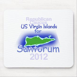 Santorum VIRGIN ISLANDS Mouse Pad