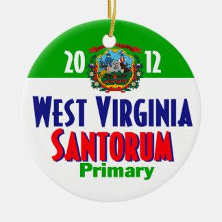 Santorum WEST VIRGINIA Ceramic Ornament
